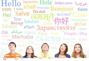 Nastolatkowie uczący się języków obcych